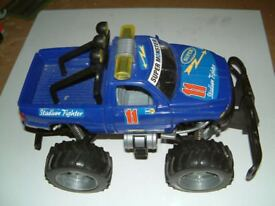 Super Monster Truck Stadium Fighter, Good used condition. Grandson had hours of fun with this