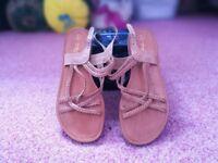 Tan sandals- size 6