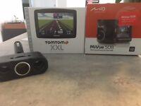 Tom Tom XXL sat nav, Mio MiVue 508 dashcam and 12v splitter