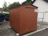 Garden shed, 8' x 6', fully insulated and fully ply lined.