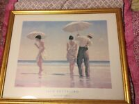 Jack Vettriano Mad Dogs Gold Framed Art Print Excellent Condition