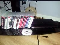 Ps3 500gig 2 rechargeable remotes 20+games