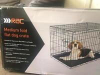 2 medium dog cages