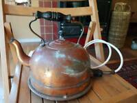 Vintage Copper kettle with mains lead
