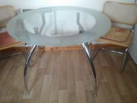 Free glass / chrome dining table