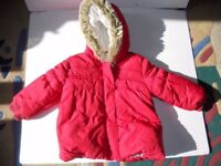 Girl's Next Winter Coat, Size 3-4 Years, Red