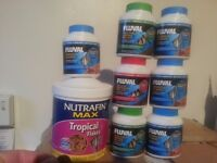 JOB LOT of tropical fish food / flakes/pellets for Fish tank / Aquarium SUPER BARGAIN !!! 8 items