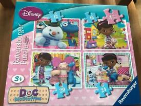 As New 4 x Doc McStuffins Puzzles