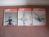 3 VINTAGE 'AIR PICTORIAL' MAGAZINES FOR 1957 - JULY, NOVEMBER AND DECEMBER