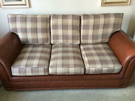 Beautiful Leather and Material 3 Seater Sofa