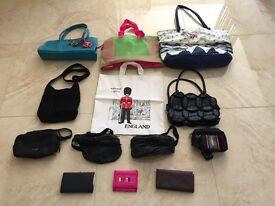 Selection of Hand Bags, Purses, Wallets. and Bum Bags