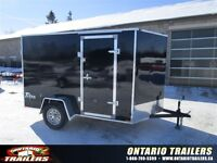 "2015 Stealth Trailers  6 x 10+24"" v nose / double rear doors/ Bl"
