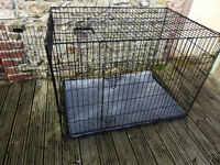 "Dog Crate Extra Large 42""L x 28""W x 31""H with Cover and Mat , Good Cleaned Condition"