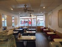 Busy cafe lease for sale, good location, A3 license