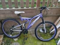Adult dual suspension mountain bike 18x speed dual disk brakes