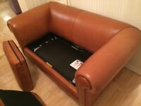 Leather sofa bed immaculate condition