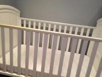 Mothercare white wood cot bed