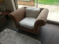 Stunning Shabby Chic Rattan Armchair