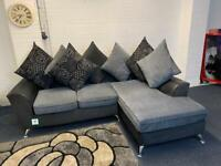 Beautiful Harvey's fabric corner sofa grey & black delivery 🚚 sofa suite couch furniture
