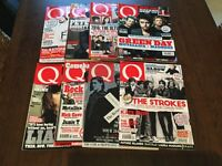 Q Music Magazine x8. Last 8 issues in excellent condition.