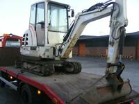 MINI DIGGER HIRE LEEDS SELF DRIVE OR WITH OPERATOR INC DUMPER HIRE SKIPS GRAB LORRY BREAKER