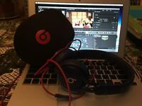 Beats by Dre studio mixr headphones with case