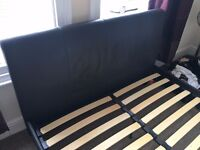 Brown Leather bed - Queen Size