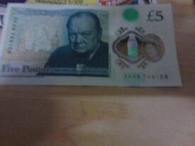 AK48 £5 pound note