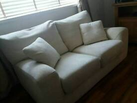 Cream 3 seater and 2 seater sofa