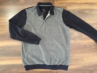 Jeff Banks Mens Blue / Grey Jumper. With collar. Size L. Collect Totton