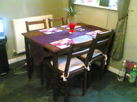 solid wood table and chairs argos