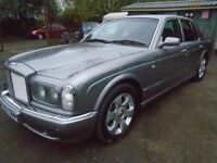 BENTLEY ARNAGE RED LABEL 6.8cc V/8 TEMPEST SLIVER WITH RED LEATHER TRIM 48,000 MILES JUST £19,995