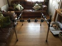 Gibraltar drum rack,double bass pedal and remote Hi Hat