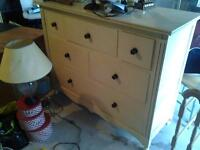 bedside cabinets, matching chest of drawers and king size bed