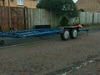 Car recovery trailer swap for tow dolly