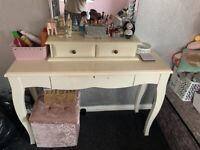White dressing table from next