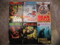 Set of 6 Bear Grylls Mission Survival paperback books - £5