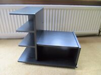Small black ash Hifi unit (or small TV unit) with 3 shelves for cd storage