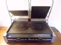 Burger Van Pannini Grill Cooker industrial Chef Master Professional Double Contact