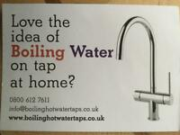 Boiling hot water tap