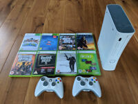 Details about Original Xbox 360 console with 2 controllers and 8 games