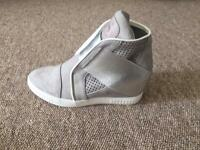 Brand new suede grey trainers