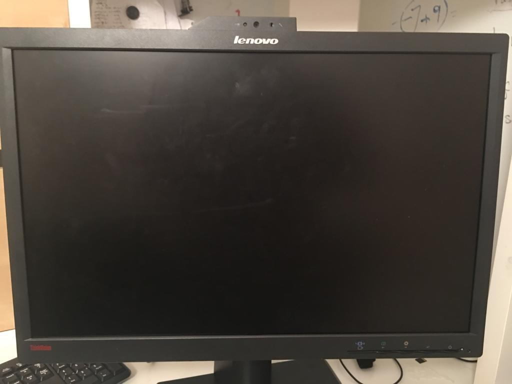 Lenovo 22 inch monitor with webcam and mic