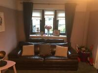 Dfs brown leather sofas for sale