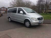 SILVER MECEDES BENZ VITO WITH LONG MOT, GREAT RUNNER, LOVELY VAN