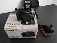 Canon eos 1100d digital slr camera with efs 18-55 iii kit lense