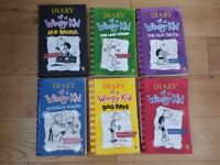 6 Diary of a Wimpy kid books, all in excellent used condition