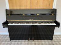Yamaha E-108 Upright Piano, Polished Ebony