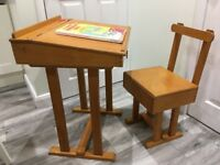 Rare Vintage Child's Desk and Chair