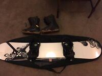 Custom Burton 164cm Snowboard with Burton bindings and Burton Boots